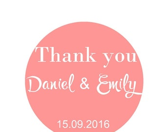 Personalized Stickers Wedding Stickers Wedding Favor Labels Thank You Stickers Personalized Favor Stickers Thank you Card Favor Bag Stickers