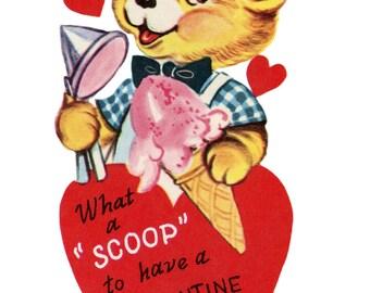 Vintage Valentine Card Digital Instant Download Paper craft