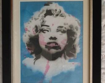 Marilyn Monroe Zombie Art