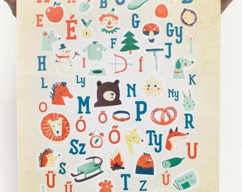 Alphabet Poster - Hungarian