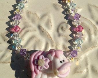 Miss. Pony w/Swarovski Crystals Bracelets