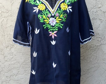 1960s NWT Embroidered Tunic L