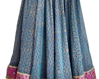 Blue Gold print skirt