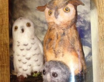 Felt needle seal packing owls