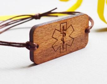 Medical Bracelet - Medical Alert Bracelet - Personalized Medical ID bracelet - Custom Name diabetes allergies Medical Bracelet
