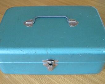 Metal Box, Green, Industrial, Vintage