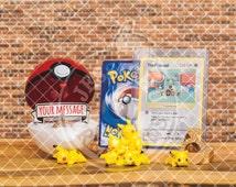 "Pokemon Pokeball Ring Box ""I Choose You"" - Wedding, Proposal, trading card, Will you marry me?, Ash, Misty, Pikachu, Loveball, Masterball"