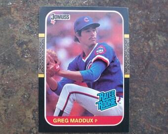 Greg Maddux Lot-10 cards Donruss 1987 Rookie #36, Greg Maddux baseball trading cards, Father's Day gift, Card collector, Baseball fan gift