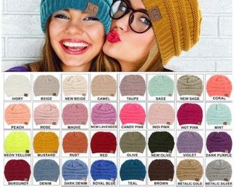 CC Beanie INSTOCK Ready To Ship!! Many Colors!! Winter Fall CC Beanies