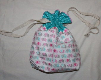 Small drawstring project bag