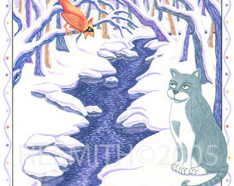 The Crossing - Cat Sympathy Card - Pet Sympathy Card