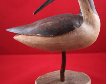 Decorative Hand Carved Curlew Shorebird