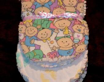 Handmade Baby Burp Cloths, Baby Girl Burp Cloth
