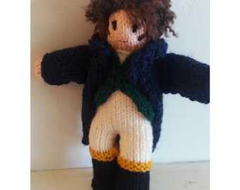 Mr. Darcy knitted figure/doll by Kwerky Knits