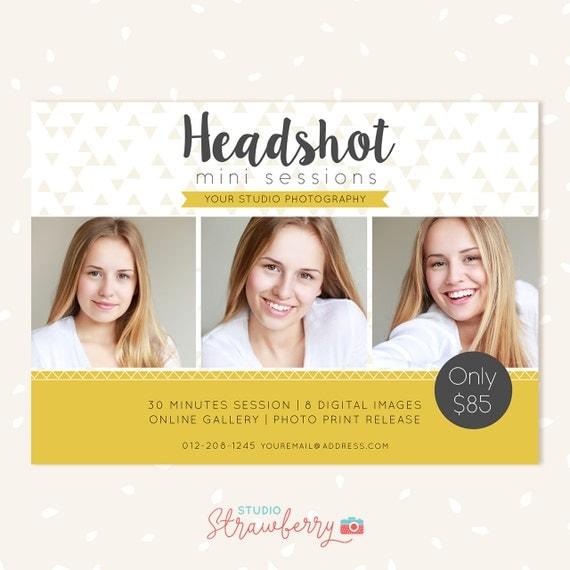 Headshot mini session template Photoshop Templates for