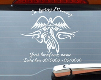 Memory Car Decal Etsy - Custom car decals nz   how to personalize