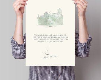 Northanger Abbey - 12x18 Poster - Jane Austen Collection