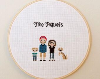 Personalized Family Photo Cross Stitch