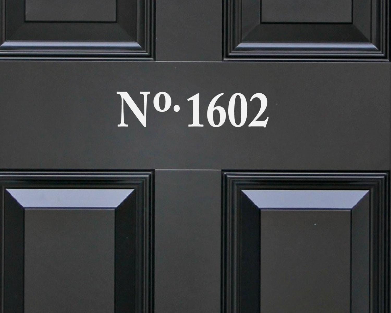 2 Front Door Number Stickers Door Number By UrbanArtworkStore
