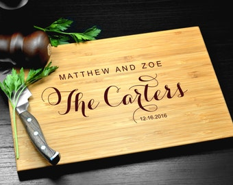 Personalized Cutting Board, Custom Cutting Board-Engraved Cutting Board, Wedding Gift, Housewarming Gift, Anniversary Gift, Engagement Gift