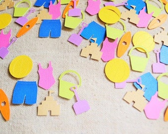 Beach Party Confetti- Scrapbooking- Birthday- Table Decor- Pinata- Baby Shower Confetti