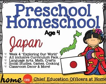 Homeschool Preschool Japan Unit