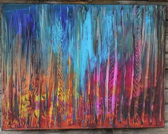 Original Abstract painting Bright Grass painting abstract landscape painting modern wall decor