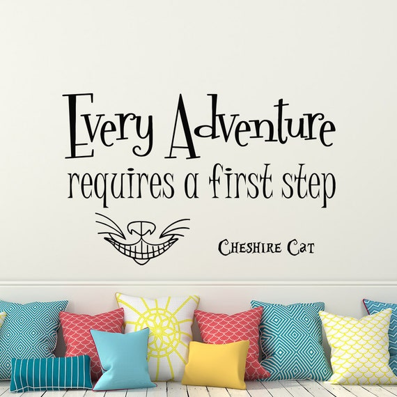 Alice In Wonderland Caterpillar Quotes: Alice In Wonderland Quote Wall Decal Every Adventure Requires