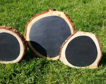 Ponderosa Pine Chalkboard Rounds
