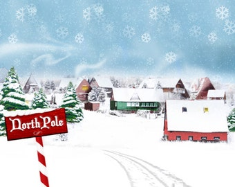 North Pole Photography Backdrop (HDY-BB-001)