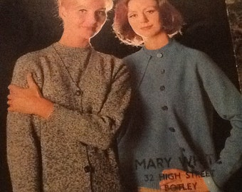 Original vintage knitting pattern by Sirdar no 2248 to make a women's twinset.