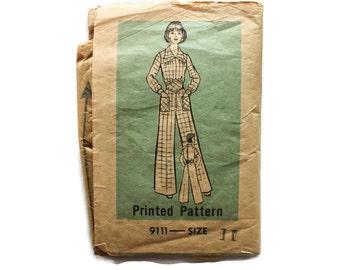 1940s Vintage Sewing Pattern - Anne Adams 9111 - Wide Leg Jumpsuit
