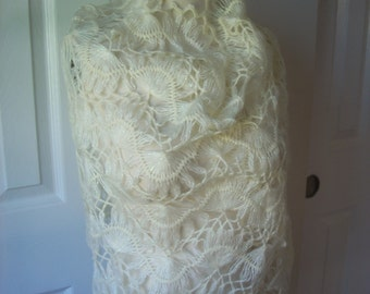 Free shipping Wedding crochet shimmer shawl scarf, hand made gift ideas, women accessories, gift for her, wedding accessories