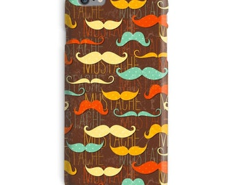 Hipster iPhone Case, Mustache iphone case, Brown iphone 6 case, Funny iphone 6 case, Trendy iphone 6s case, Dark iphone case