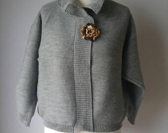 Silver Grey Knit Jacket
