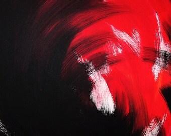 "Acrylic on canvas, ""Inferno"", 40 cm x 50 cm"