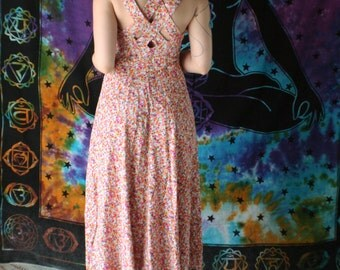 RESERVED 1990s Floral Maxi Dress (S) CDC Vintage Summer Dress