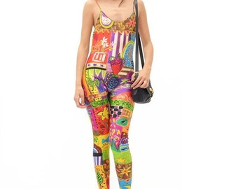 UNGARO - Jumpsuit multicolore - Multicolor Jumpsuit - Crazy Pattern