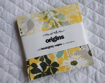Origins - Charm Pack - 42 pieces - By basicgrey - Moda Fabric