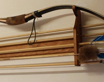 Horizontal Bow and Arrow Rack for 8 Arrows