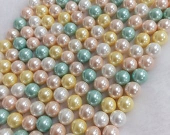 Shell Pearl 8mm round shape