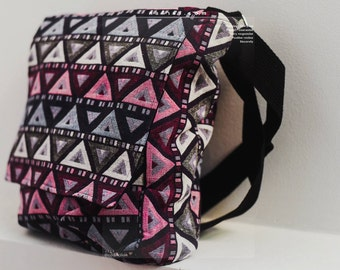 Geometric Tribal Crossbody Bag, Diaper Bag, Messenger Bag Adjustable strap shoulder Bag Boho Tribal Travel bag Bohemain Style Tote Bag