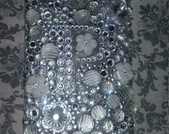 Silver Bling Monogram Phone Case