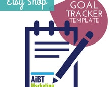 Etsy Shop Goal Tracker  Easy to Use Excel Template