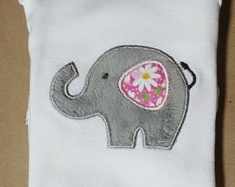 Elephant Applique Onesie