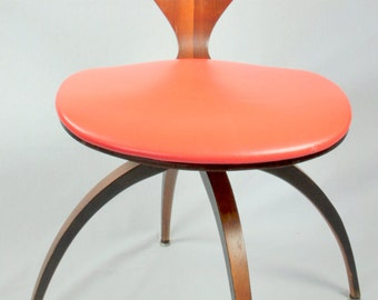 Rare Vintage Swivel Chair Designed by Norman Cherner for Plycraft, 1963