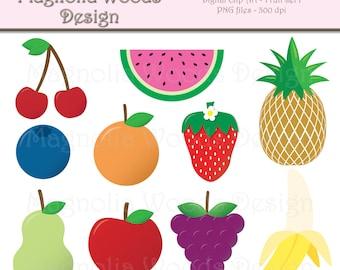 Fruit Clip Art, Food Clip Art, Apple Clip Art, Banana Clip Art, Strawberry Clip Art, Small Commercial Clip Art, Cute Fruit Clip Art