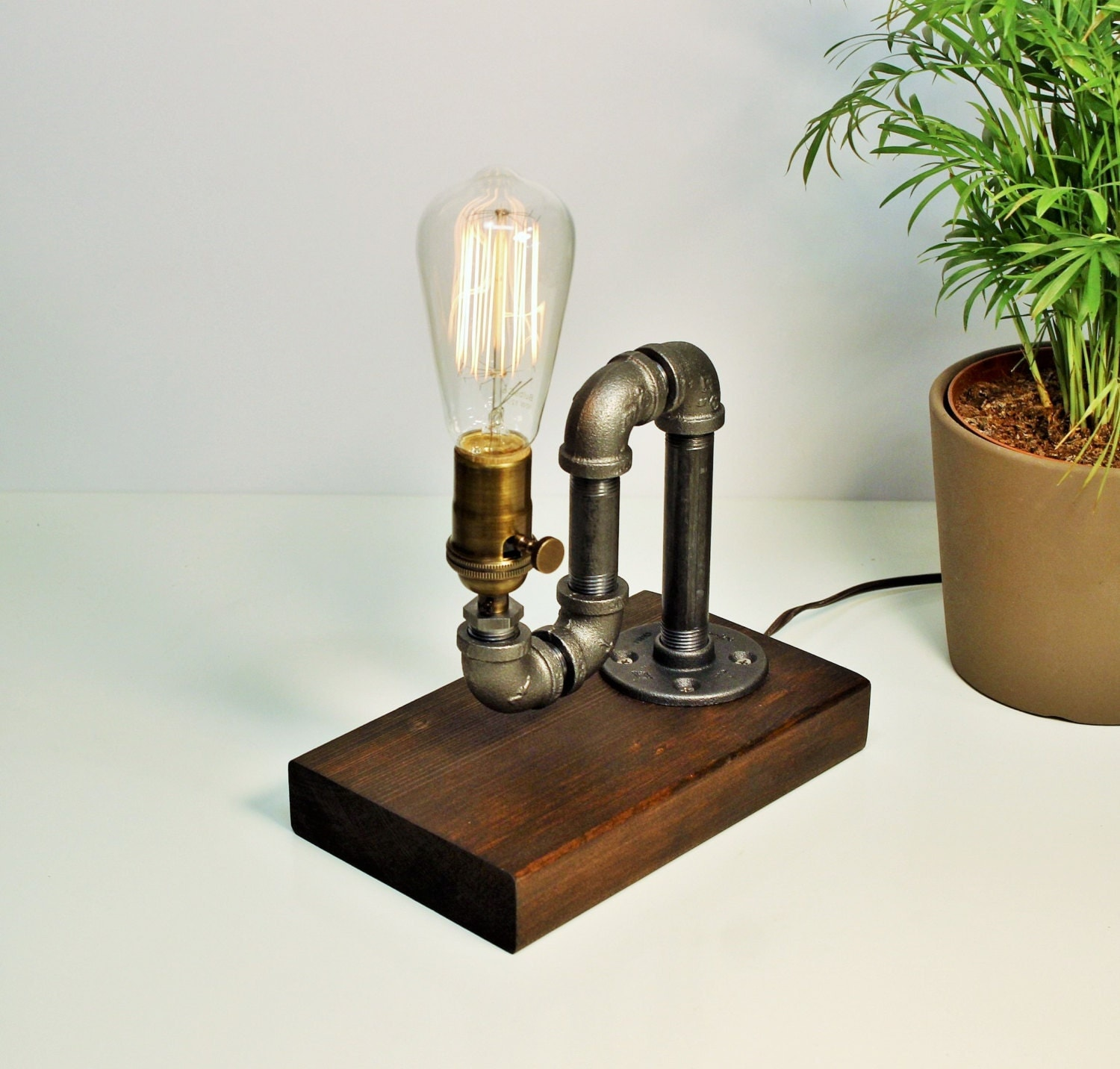 Industrial Pipe Light Lamp Unique Table Light Lamp-Steampunk