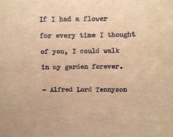 Alfred Lord Tennyson Typewriter Quote