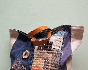 Maxi bag Japanese-inspired
